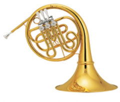 Bb French Horn Three Valve Keys Single Row Brass B...