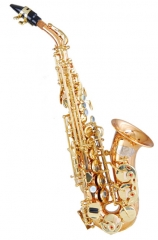 Bb Curved Soprano Saxophone Gold Brass Body Italy ...