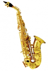 Bb Curved Soprano Saxophone With ABS case Musical ...