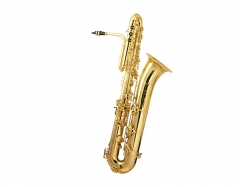 Bb Bass Saxophone Brass Body with wood Case Musica...