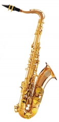 Tenor Saxophone Gold Brass Body Italy Pads Germany...