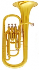 Bb Piston Baritone Yellow brass Musical instrument...