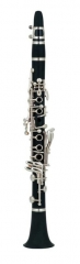 Ebony Clarinet Bb 17 Keys with Silver plated Italy...
