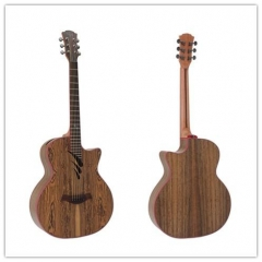 Plywood Acoustic Guitar Batterfly wood+Walnut wood...