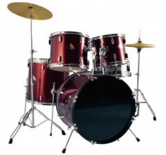 Red PVC Drum Set 5 pieces Drum set for Sale Percus...