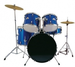 5-pieces PVC Drum Set Blue Finish for Sale Percuss...