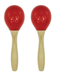 Maracas 14*4.5cm Wooden Material Hand Painted Perc...