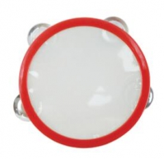 15cm Tambourine Wooden Shell with 4 pairs of Jingl...