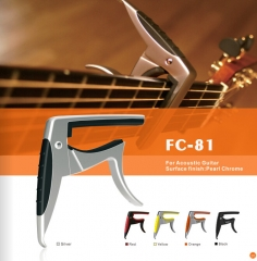 Guitar Capo for Acoustic Guitar Pearl Chrome Finis...