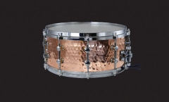 Hammered Copper Steel Snare Drums Solid Chrome Lug...