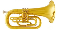 Bb Marching Euphonium Brass musical instruments on...