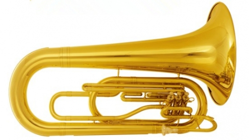 Bb Marching Tuba Lacquer Finish with Case Brass wind Musical instruments for sale