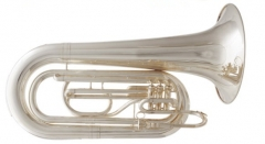 Bb Marching Tuba Silver plated Finish with Case Br...