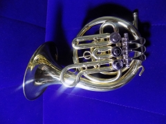 Bb Rotary Post Horn With Bag and Stand Free shippi...