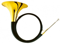 Bb Hunting Horn With Foambody case Brass Wind Musi...