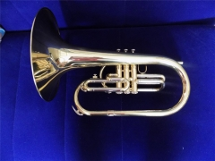 Marching Mellophone F Tone Brass Body with case Fr...