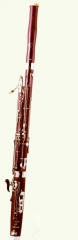 C Tone Wooden Basson with Nickel plated key Musica...