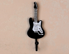 Guitar Clothes Hook Decoration Resin Material Hand Painting Holiday Gift Interior Decoration