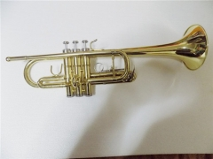 Yellow brass Trumpet C key Lacquer ABS case Musica...