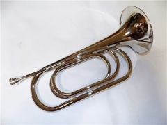Bb Bugle Horn Nickel plated With Box Musical instr...