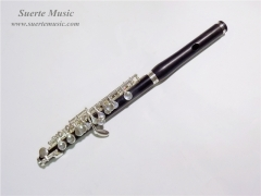 C Key Piccolo Ebony Body Silver plated Keys Musica...