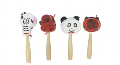 Wooden Castanet On Handle Animal type Orff Musical...
