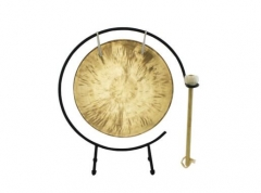 Chinese Wind Gong 10*25cm handmade with mallet Mus...