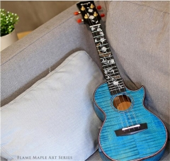 Enya Ukulele HUAHAI Solid 5A Tiger Flame Maple Bod...