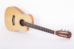32 inch Enya Travel guitar UGT-03 3A Solid Engelma...