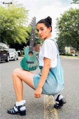 NEW Enya M6 Ukulele Blue/Black Solid Mahogany ukuleles concert tenor with bag Hawaii mini guitar musical instruments