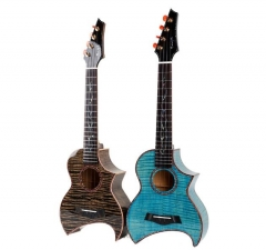 Enya E5 Solid Ukulele Tiger stripes Maple Body 26 ...