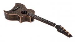 Enya E5 Solid Ukulele Tiger stripes Maple Body 26 Inch Guitar 4 String Musical Instruments professionals