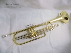 Bb Bass Trumpet 3 pistons Brass body Lacquer Finis...