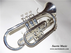 Bb Brass Cornet Lacquer/Silver plated Bell 119mm w...