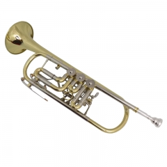 High-Grade Bb Rotary Trumpet with Wood case Musica...
