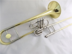 Bb Piston Slide Trombones Two ways using Brass Mus...