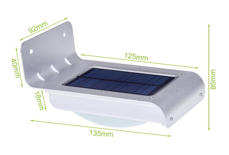 Hooree Sl 10p 16 Led Waterproof Motion Sensor Solar Wall