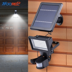 Hooree SL-60 60 LED Motion Sensor Solar Security Light Solar Wall Light for Garden Use