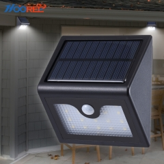 Hooree SL-830 16LED Solar Light Outdoor Waterproof Wireless Solar Powered Night Light Motion Sensor Light for Patio Deck Yard Driveway Fence