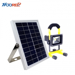 Hooree SL-330A Portable 10V 5W Solar Panel Integrated LED Solar Emergency Light for Camping Night Fishing