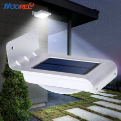 Hooree SL-10P3 16 LED Solar Wall Lamp + Light Control Function