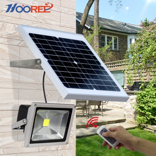 Hooree SL-310F-1 20W Integrated LED Solar Flood Light with Remote Control Function