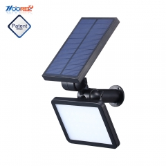 Hooree SL-50C 48 LED Super Bright Adjustable Angle Solar Wall Light Lawn Light for Outdoor Garden Use