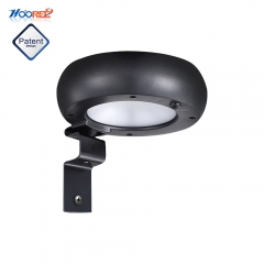 Hooree SL-530 6PCS SMD5730 LED Outdoor Microwave Induction with Dim Light Solar Wall Lamp