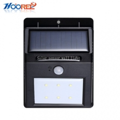 Hooree SL-810 6/8/10/16/20 LED Motion Sensor Solar Wall Lamp for Garden Pathway