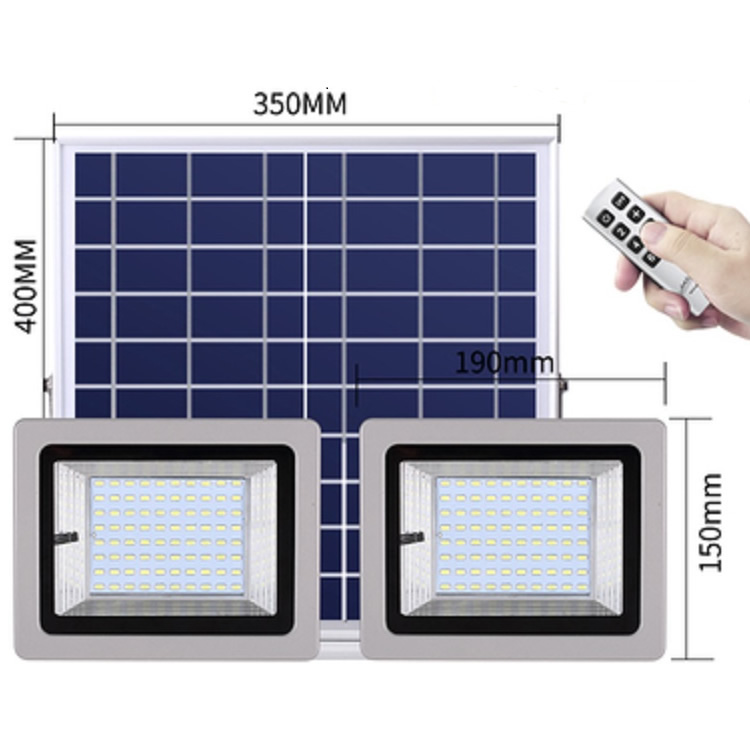 size of solar flood light with two lamps SL-388 40W