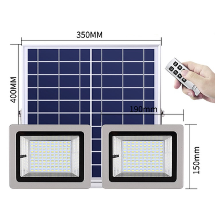 size of solar flood lamp with two lights SL-388 50W