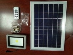 10W integrated LED remote solar flood light for outdoor garden lighting