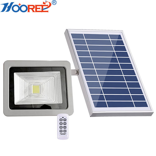 20W integrated LED remote waterproof led solar powered dusk to dawn flood light
