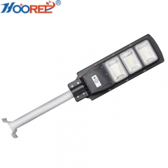 100W all in one integrated solar led street light, PIR motion sensor solar light
